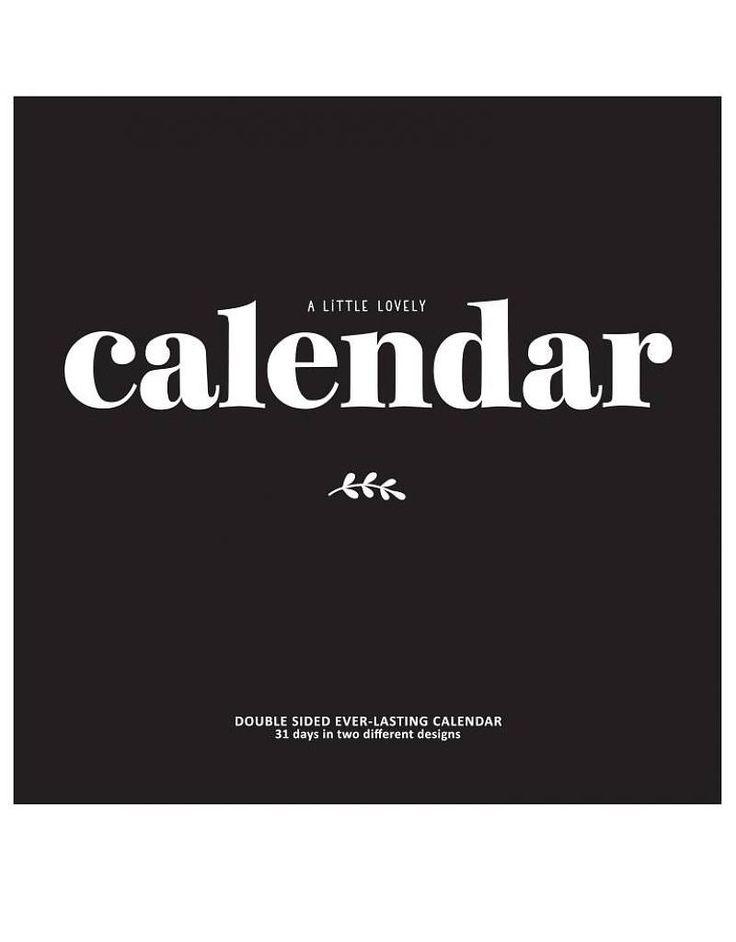 <p>Grand calendrier mural perpétuel avec deux version de police de charactère, une sur fond noir et l'autre sur fond blanc, design A little lovely company . On aime cette typo généreuse et très visuelle pour suivre l'année avec chic !</p>