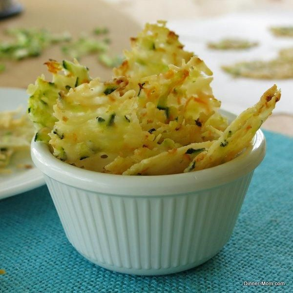 Snack Recipes: Parmesan Cheese Crisps are laced with zucchini and carrot shreds. Easy bake recipe for tasty gluten-free, low-carb snack.