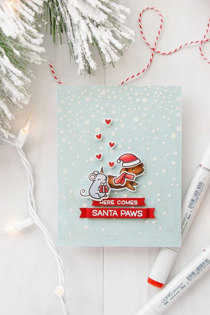 Simon Says Stamp teams up with Lawn Fawn! Exclusive Friends Forever Stamp Set! Here Comes Santa Paws video by Yana Smakula