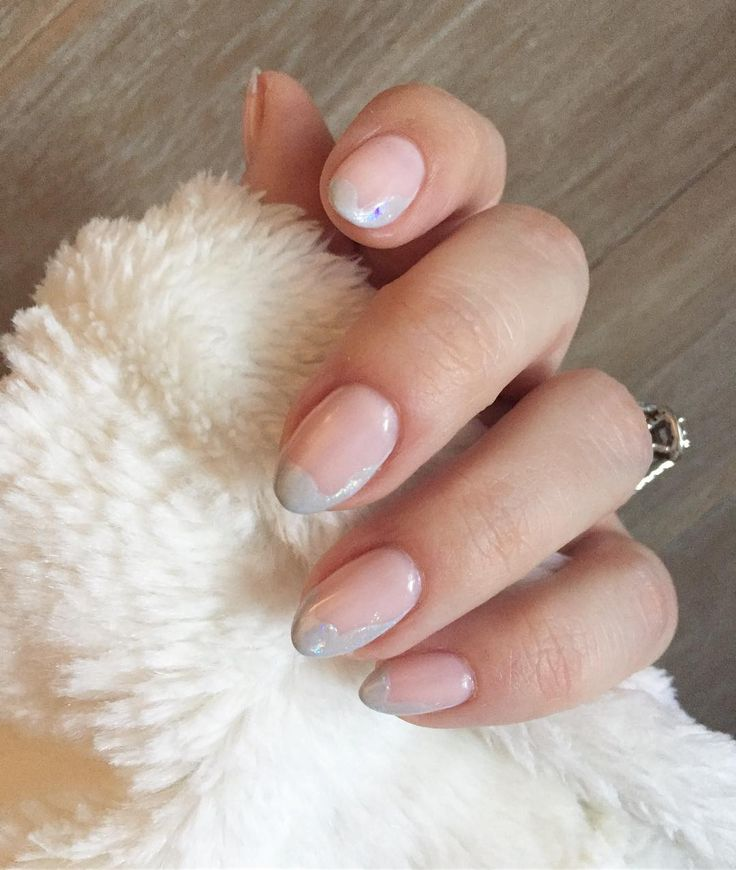 Frosted tip manicure, perfect for winter
