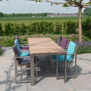 tuintafel, terrasstoelen, RVS, design