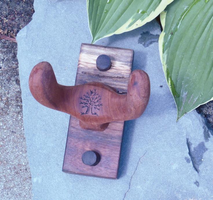 Wood Guitar or Ukulele Instrument Holder Hanger