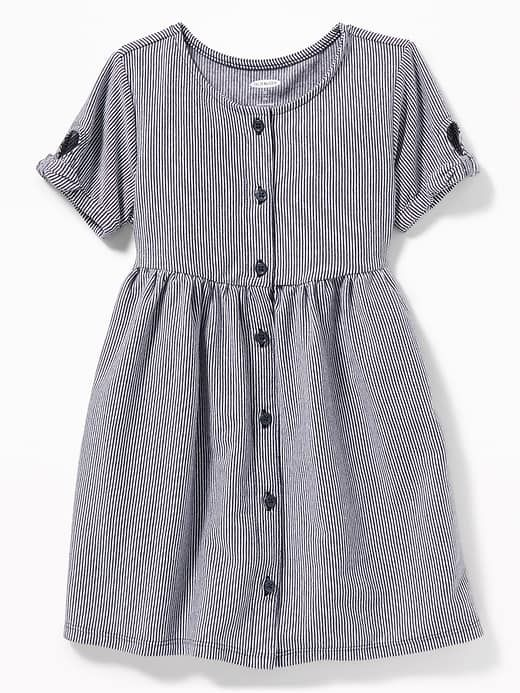 8fe206ff2ac2 Printed Fit & Flare Button-Front Dress for Toddler Girls | Old Navy
