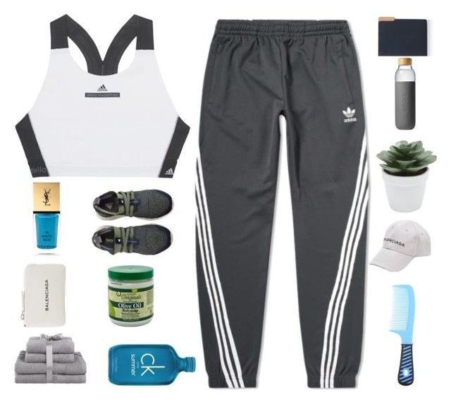 """""""LAZY DAY,  🌿"""" by parkeunseo on Polyvore featuring adidas, Yves Saint Laurent, Balenciaga, Calvin Klein, M&Co, Soma and Barneys New York"""