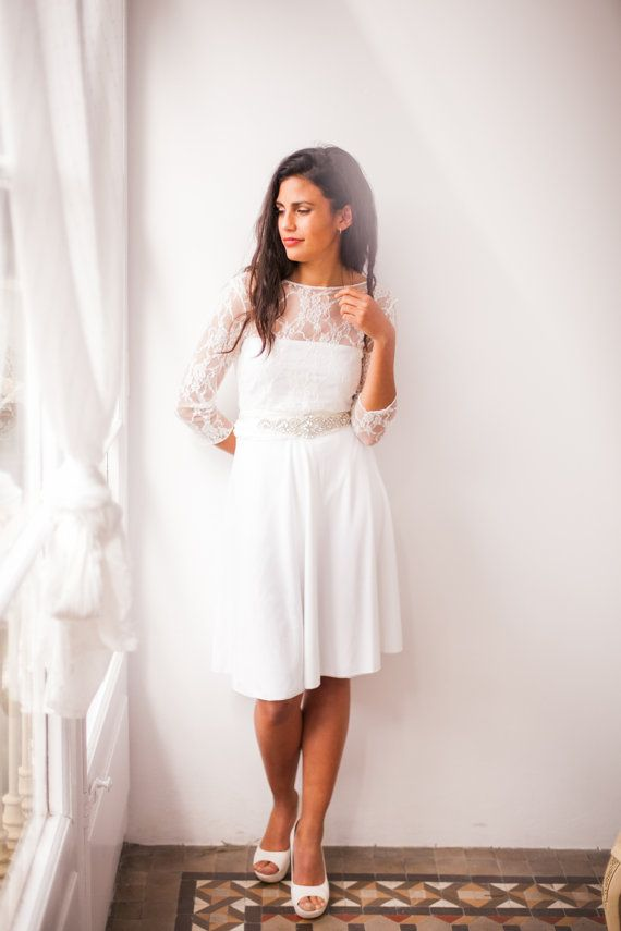 find this pin and more on sleeve boho wedding dresses frida new bridal collection mimtik bcn short wedding with sleeves lace