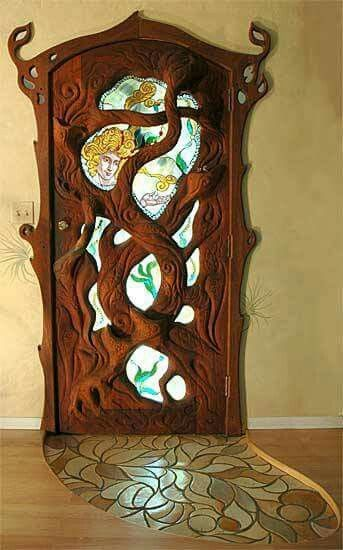 Beautiful carved door.