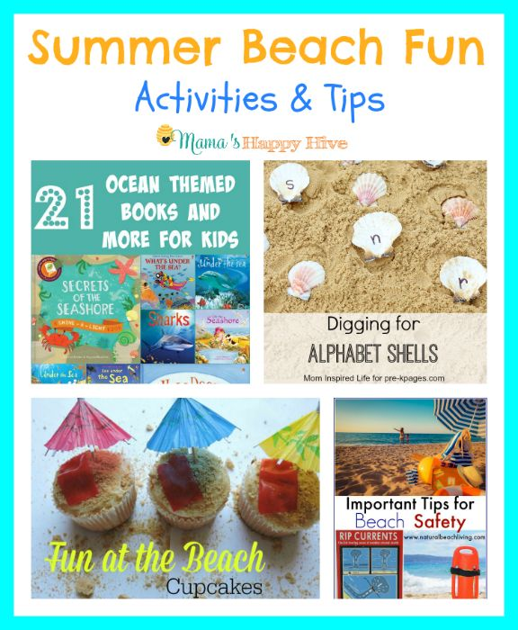 """Enjoy a collection of summer beach fun activities for the whole family to enjoy. Plus, link up with """"A Little Bird Told Me"""" Wednesday link party!"""