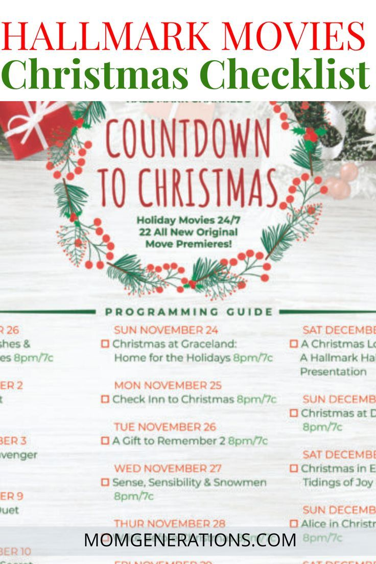 Hallmark Christmas Movies Checklist For The Big Fan Hallmark Christmas Movies Hallmark Christmas Christmas Movies