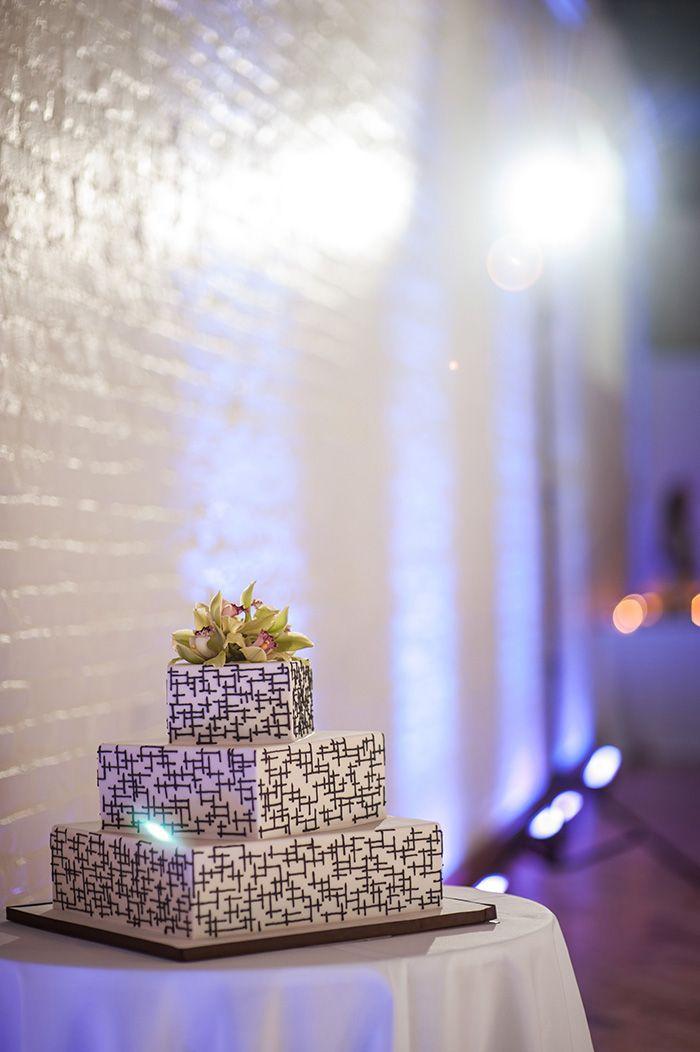 black white purple wedding reception%0A Stunning Modern   Cultural Wedding in Brooklyn