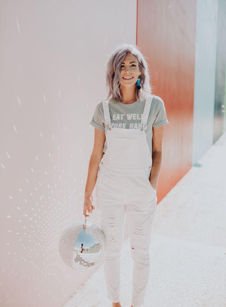 Amber White Overalls