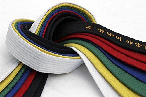 Rhingo Premium Taekwondo Belt All Colors:   High Quality belts for Taekwondo, Karate and Jiu Jiutsu
