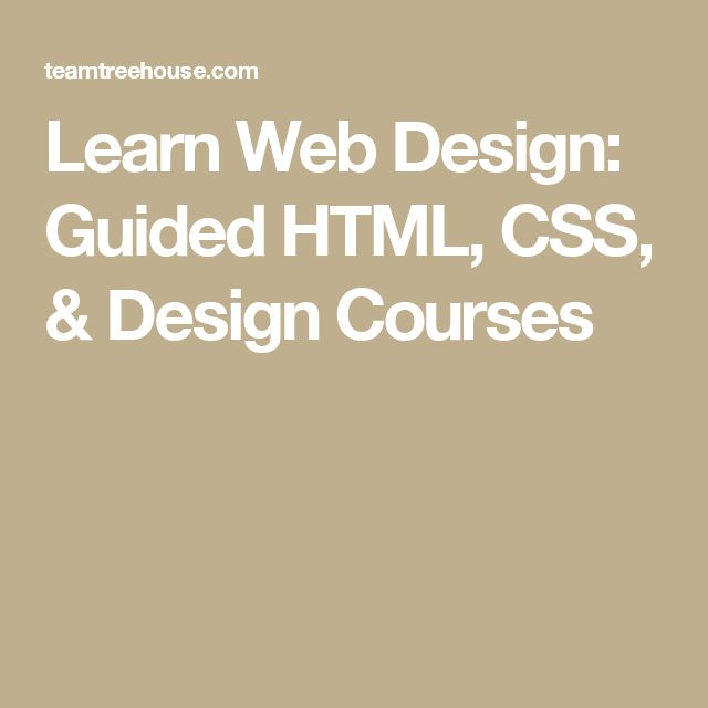 Learn Web Design: Guided HTML, CSS, & Design Courses