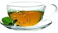 Sun's Tea (TM) 8oz Ultra Clear Glass Tea/Coffee Cup & Clear Glass Saucer, Set of 2