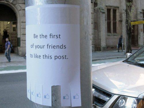 #Streetart #Facebook #Like