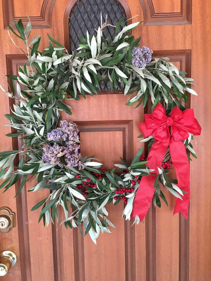 My Christmas olive wreath made by me