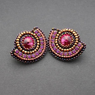 IZZILAND: For, Beadwork Earrings, Beaded Earings, Beadweaving Beaded, Beaded Earrings, Beadwork Jewelry Ideas, Beaded Embroidery, Earrings