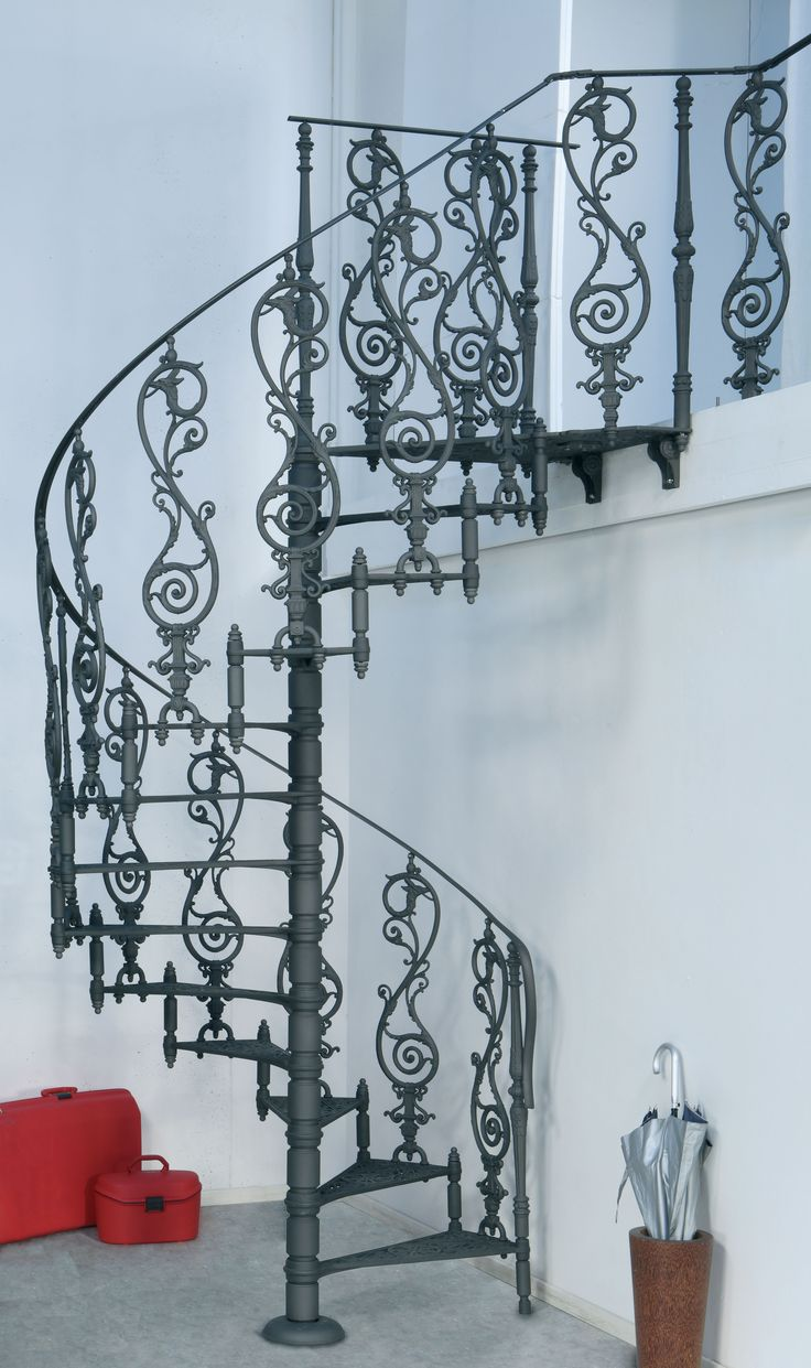 Cast-iron spiral staircases – 2070 E Ø 160 cm –  Decorated with geometrical and floral designs. http://www.modus.sm/en/products/spiral-staircases/cast-iron-starcases/diameter-160/2070-e----160-cm/2070-e.asp?ID0=1291&ID0_=1291&ID1=1314&ID1_=1314&ID2=2625&ID2_=2625&ID3=2361&ID3_=2361&ID4=2363&ID4_=2363&IDProdotto=2622&L=EN #Modus #ModusStaircase #indoorfurniture #inspiration #castiron #staircase #spiralstaircase #ghisa #scaleachiocciola #floraldesign #design #interiordesign #architecture…