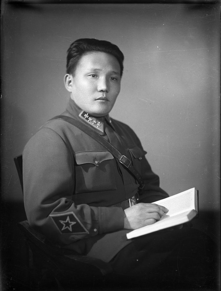 """Images of state and government heads, high ranking officials and public activists [1920s-1950s]"""". Tsedenbal."""
