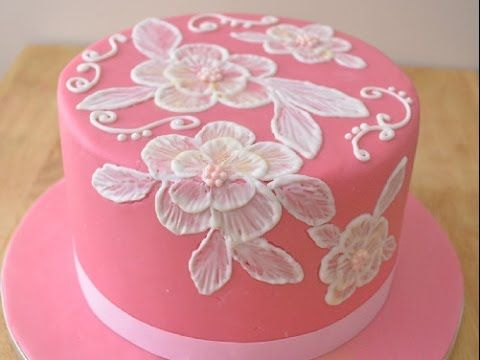 Embroidery Cake - YouTube