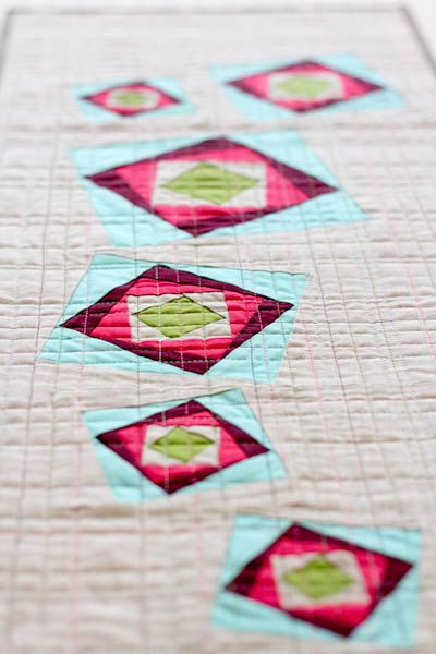 Freezing Rain Table Runner Pattern (PDF) - PATTERN ONLY no Foundation Paper Piecing Instructions