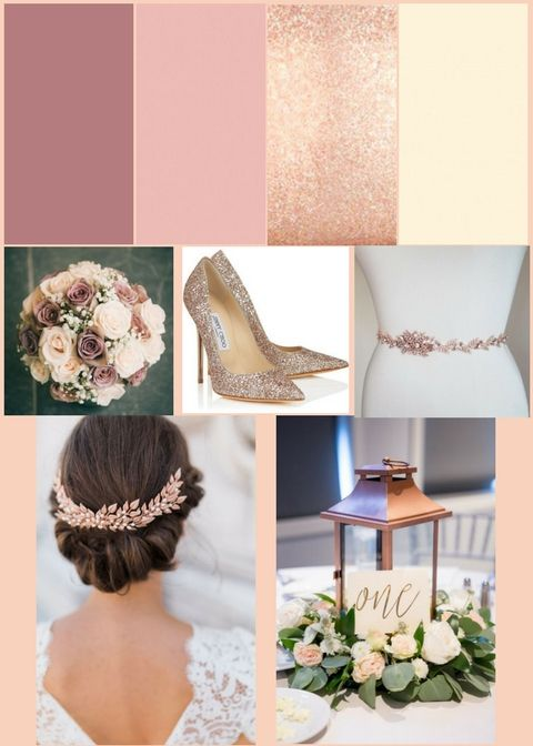 Rose Gold Dusty Blush And Cream Inspired Wedding
