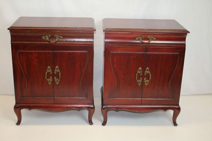 Details about pair of french louis xv commodes bedside for French nightstand bedside table