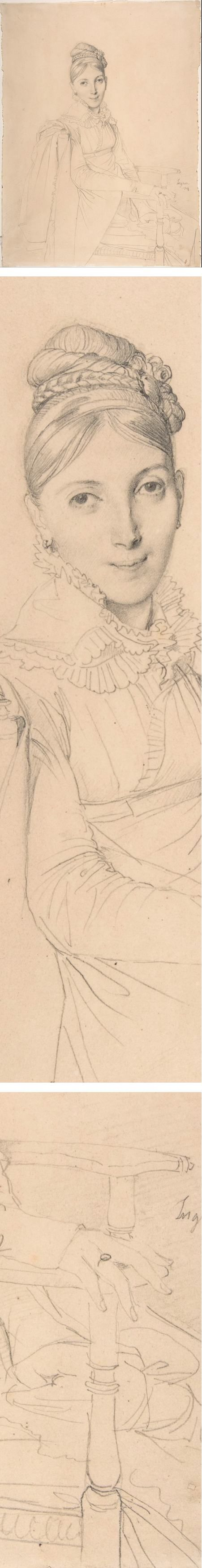 Eye Candy for Today: Ingres pencil portrait