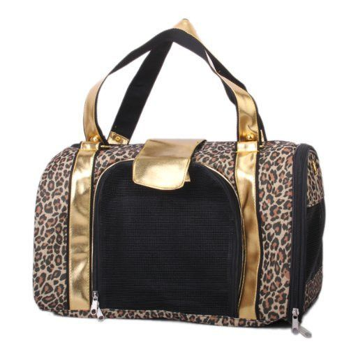 Portable Folding Leopard Print Pet Carry Carrier Bag Cat Dog Tote Bag Puppy Cage Crate Kennel House Nest