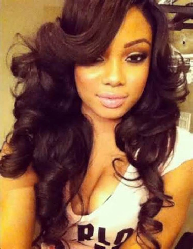 Weave Hairstyles With A Deep Bang Hairstyles Google
