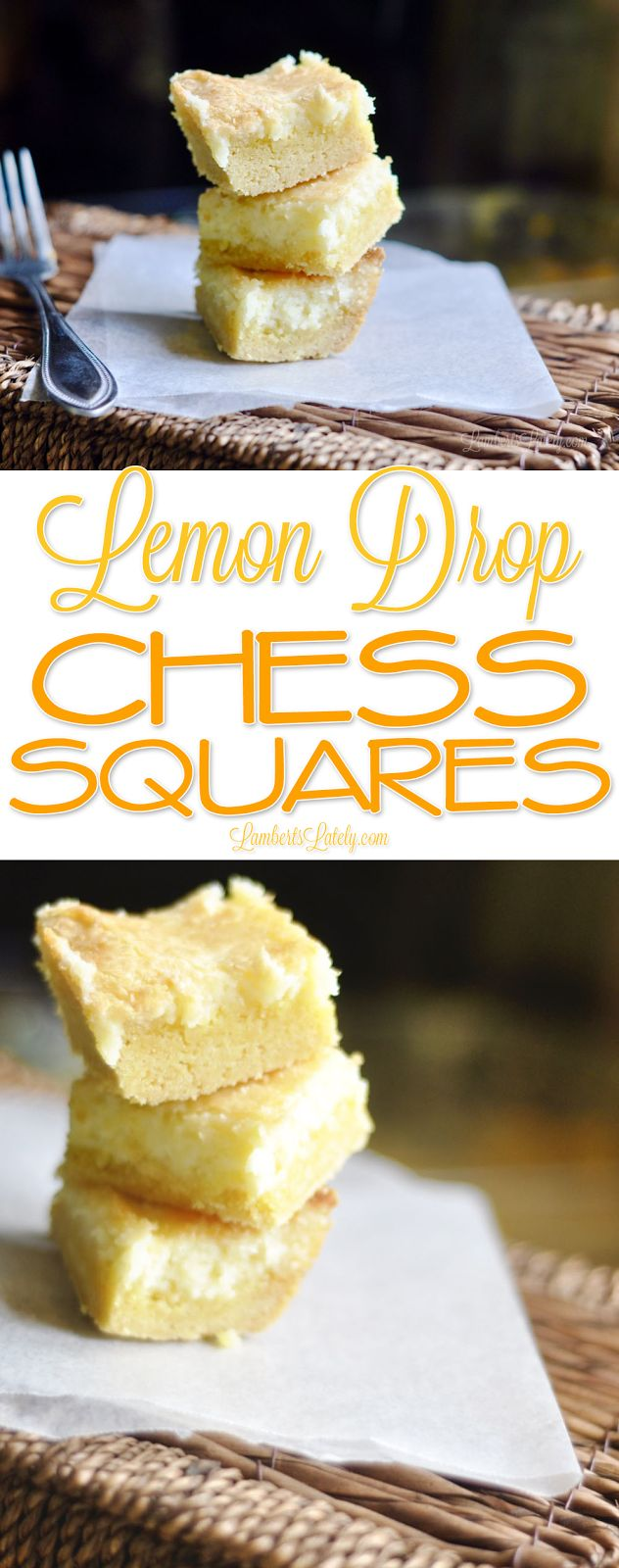 Lemon Drop Chess Squares Recipe || Chess Cake Ideas || Easy From Scratch Southern Recipe || Homemade || Cream Cheese Cake Mix
