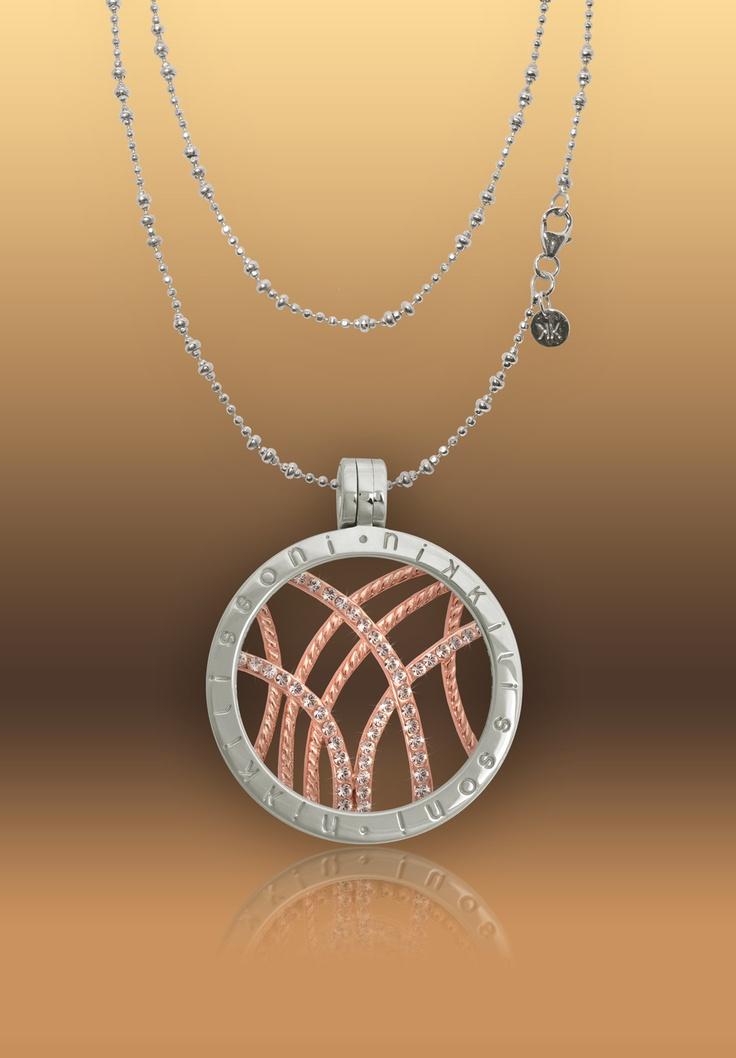 Nikki Lissoni necklace Rebellious Stripes (C1012RGM) #nikkimagazine201301