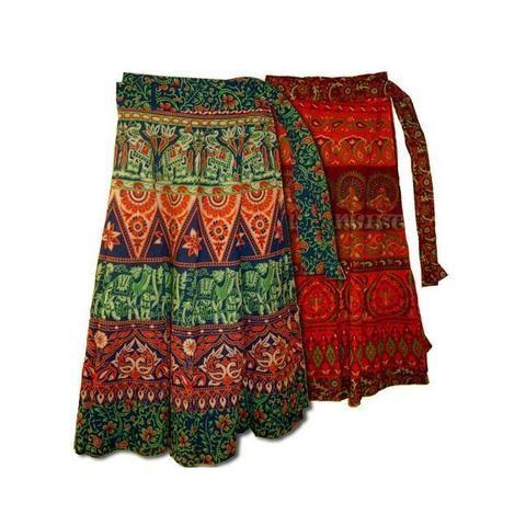 Cotton Wrap Skirt - Assorted Colours