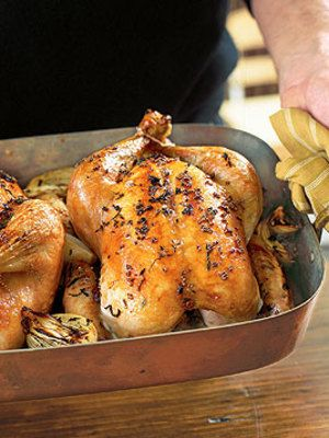 Apple & Sage Roasted Chicken with Pan Juices