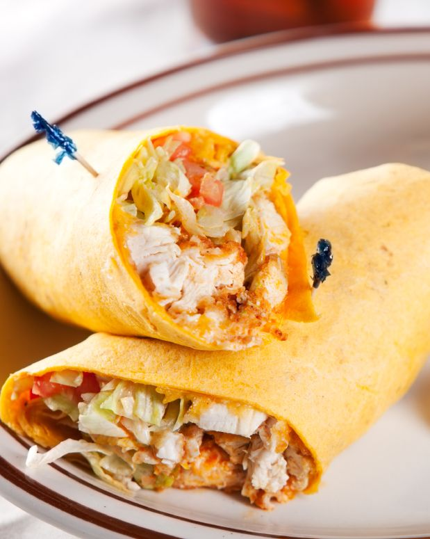 Buffalo Chicken Wraps are a terrific way to have the best of both worlds in one sandwich!