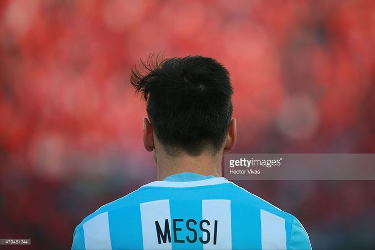 Lionel Messi of Argentina looks on during the 2015 Copa America Chile Final match between Chile and Argentina at Nacional Stadium on July 04, 2015 in Santiago, Chile.