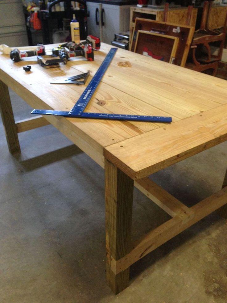 DIY Farm Table on the Cheap