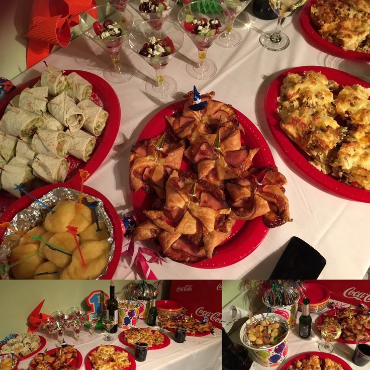 #party_time #buffet #pinwheels #meatballs #mac_and_cheese  #salad ....