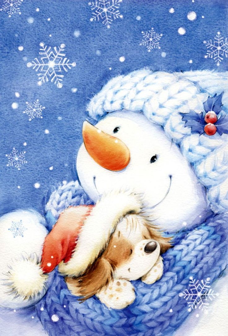 Frosty con un perro - Marina Fedotova