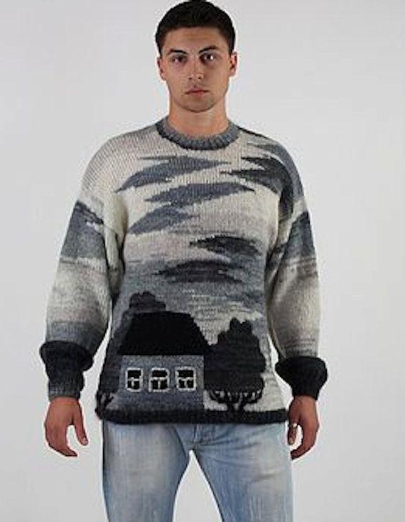 handmade knitted sweater VILLAGE for men