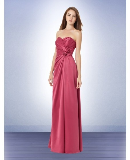 Satin Sweetheart Empire Ruched Bridesmaid Dress