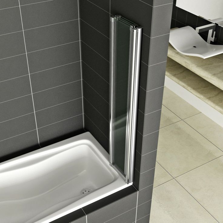 5-Fold 1200 X 1400mm Folding Shower Bath Screen EasyClean