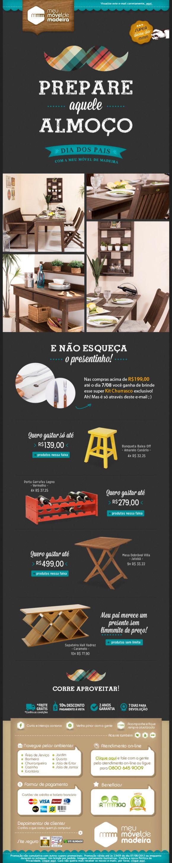 Meu Móvel de Madeira – Newsletter HTML email marketing design