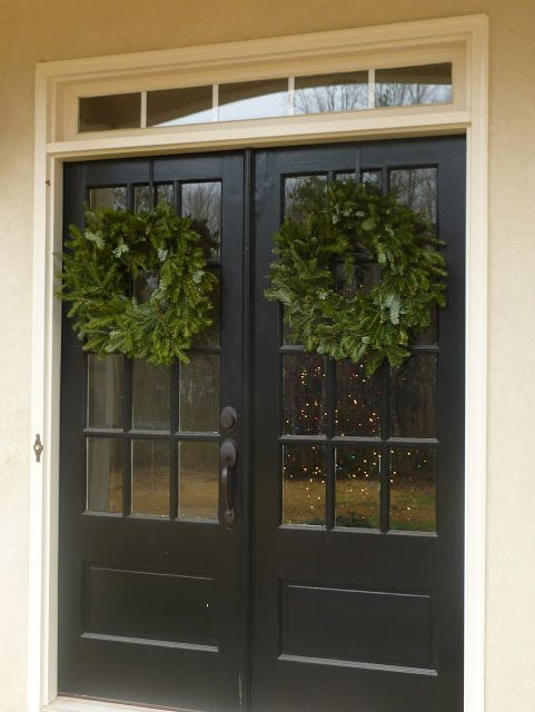 Front doors paint a different color to stand out looks for Double glass french doors