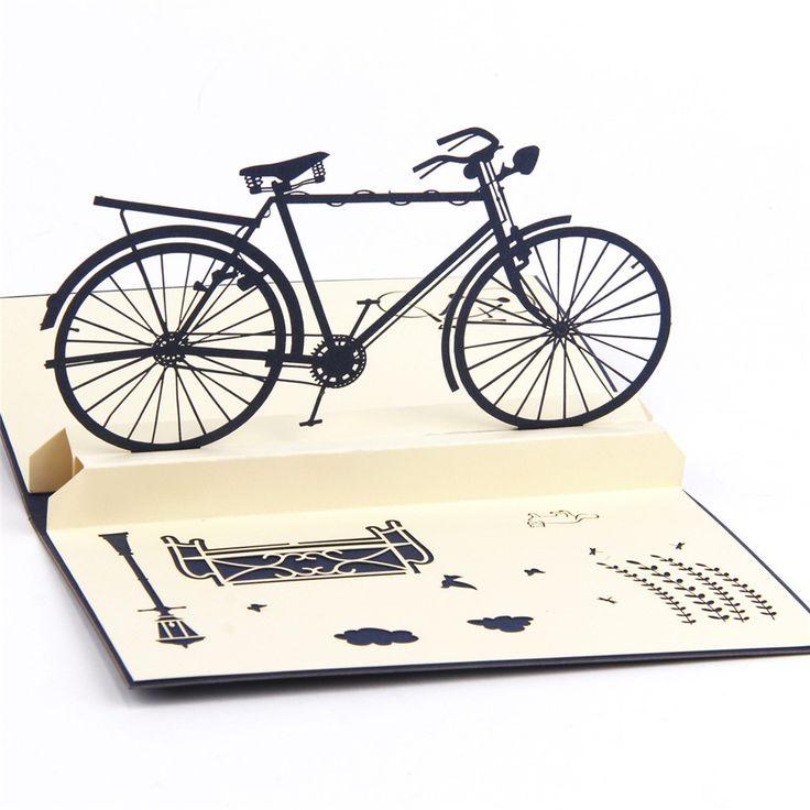 Купить товар3D pop up ручной работы, лазерная резка vintage карты Урожай велосипед творческие подарки открытки поздравительные открытки для любителей в категории Поздравительные открыткина AliExpress.     категория:3D Pop Up Карты цвет:синий вес:21 г конверты:да техника:лазерная Резка уплотнения:нет Размер карты: 9.9*14
