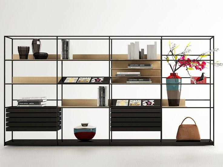 Libreria a giorno in metallo DEEP by ENNE design Christophe Pillet