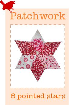 Learn how to sew a patchwork star with this easy to follow tutorial! (English paper piecing).  Great for quilt making :) © Stephanie Boon, www.DawnChorusStudio.com 2013