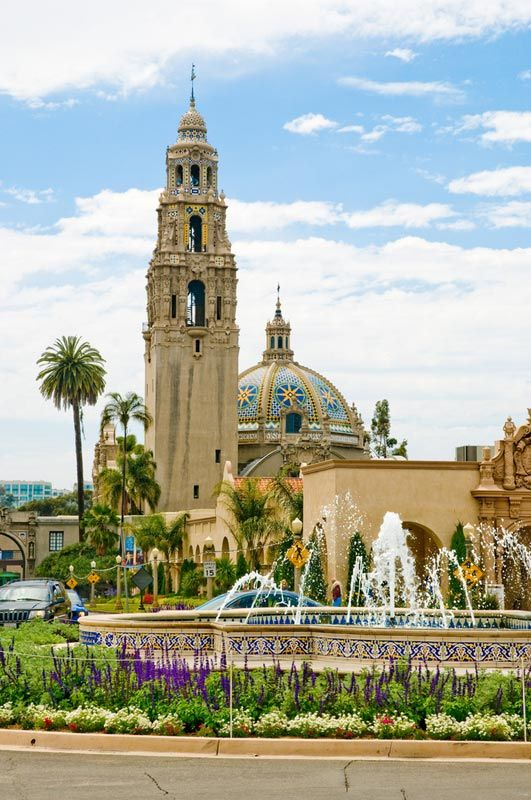 Balboa Park is a 1,200-acre (490 ha) urban cultural park in San Diego, California, United States.[3] In addition to open space areas, natural vegetation zones, green belts, gardens and walking paths, it contains museums, several theaters, and the world-famous San Diego Zoo.