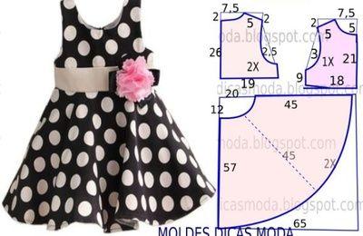 robe à godet 9 ans (tutoriel gratuit - DIY)