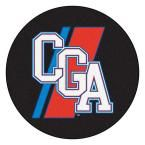 Ncaa U.S. Coast Guard Academy CGA Logo Black 2 ft. 3 in. x 2 ft. 3 in. Round Accent Rug