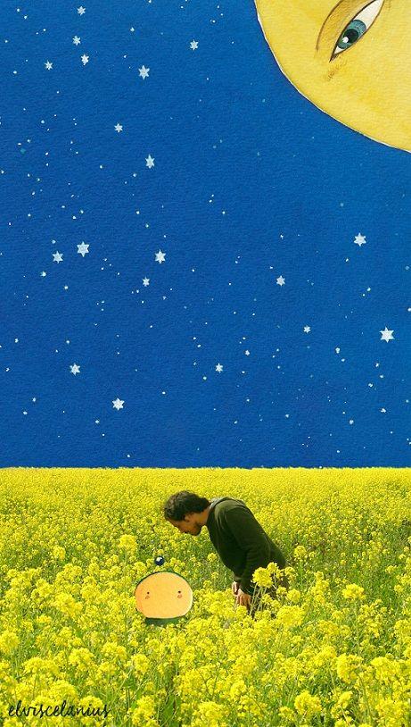 Eu y yo en un campo de yuyos y algún astro más. (By Elviscelanius)